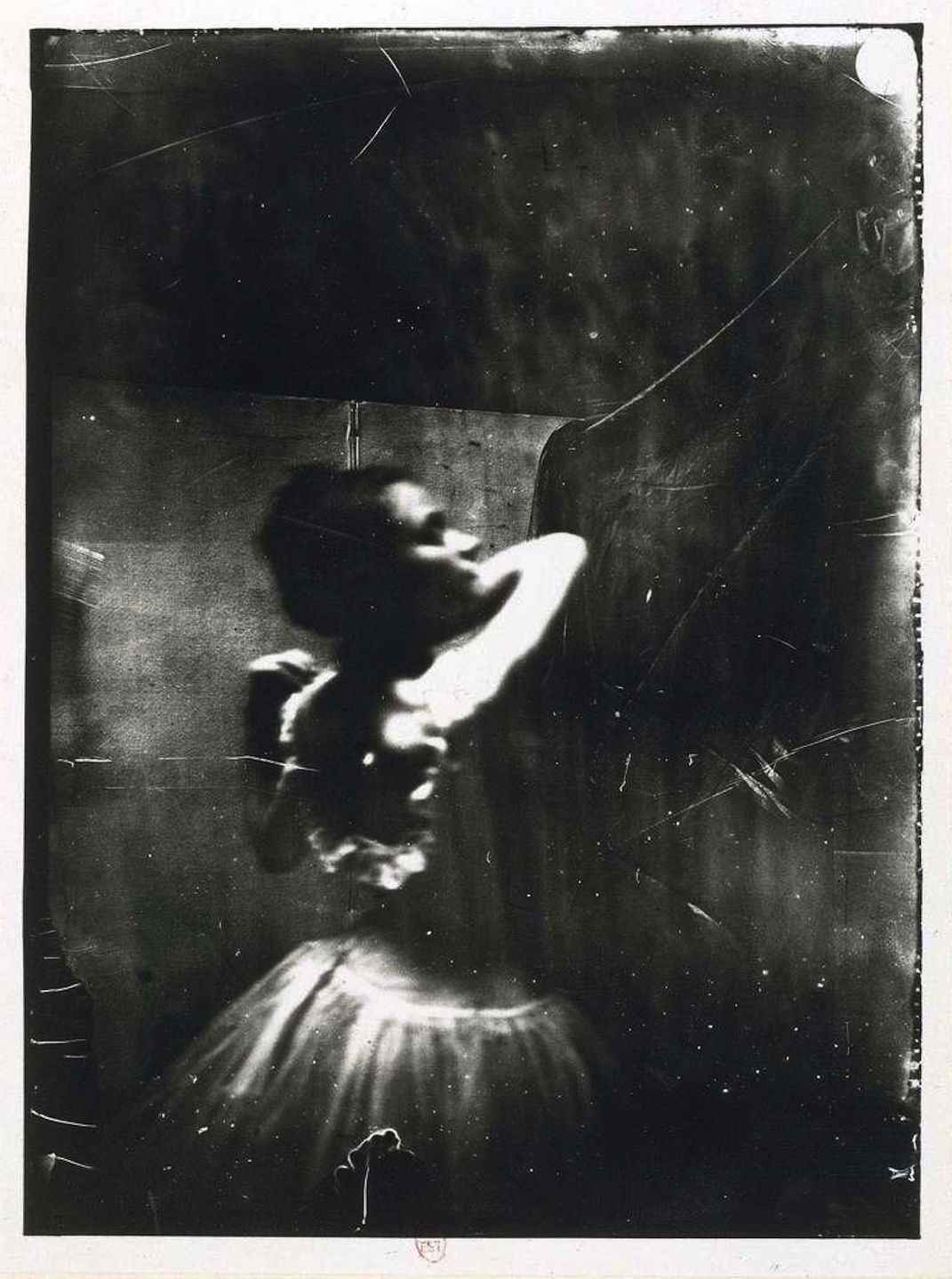 Dancer adjusting her shoulder strap, ca. 1900 (Edgar Degas) - via musicbabes