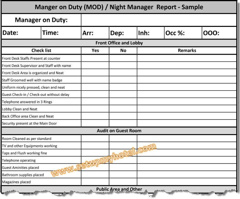Hotel front desk checklist template 4k pictures 4k pictures hotel housekeeping duties list hotel cleaning hotel front desk training checklist manager on duty report hotel mod report sample night manager manager altavistaventures Image collections