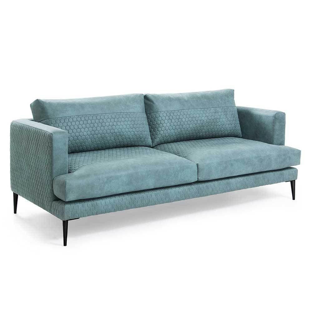 3 Sitzer Sofa In Turkis Stoff Modern Moebel Liebe Com Sofa 3 Sitzer Sofa Mobel Sofa