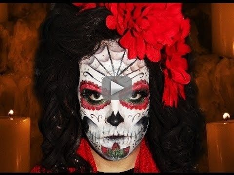 Sugar Skull Mexican Day Of The Dead Makeup Tutorial Hd Video - Day-of-the-dead-makeup-tutorial-video