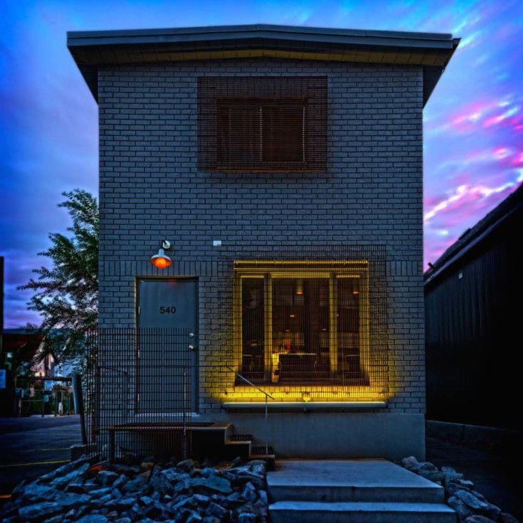 Building 19 Home: Atelier, Brick Building, Grey Doors