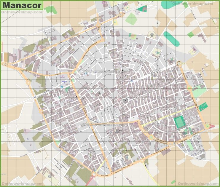 Large detailed map of Manacor Maps Pinterest Majorca and Spain