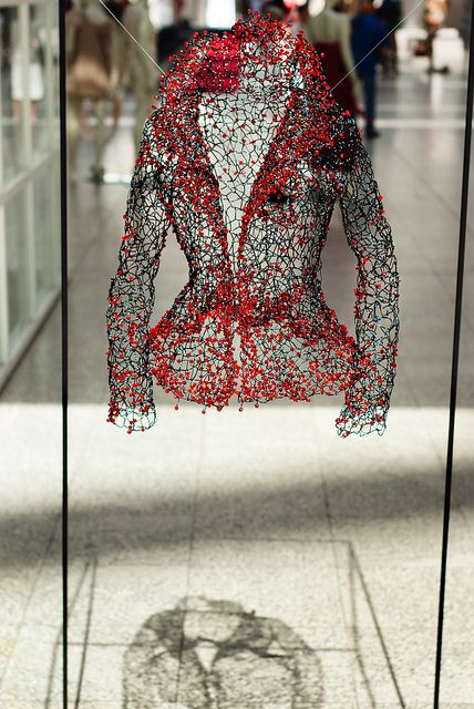 Floating Jacket by … by André Scherpenberg-Working… (cc Bambi Gordon ... I LOVE the haunting shell effect of this!!)