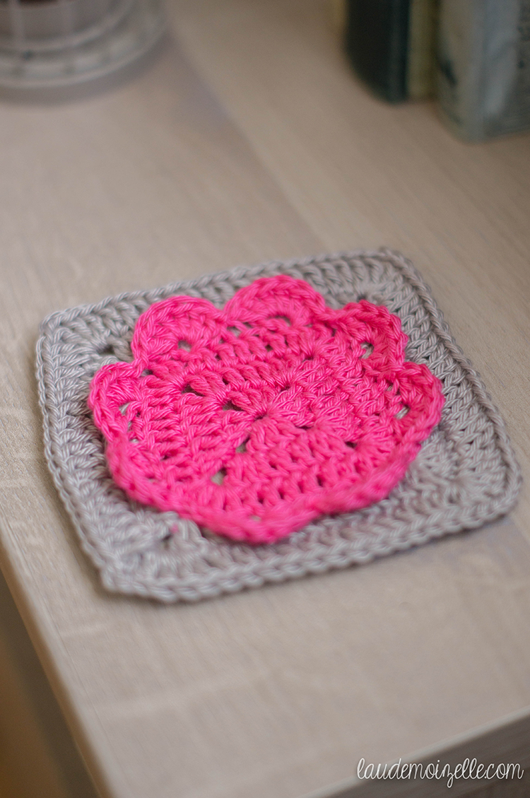 Heart granny #crochet