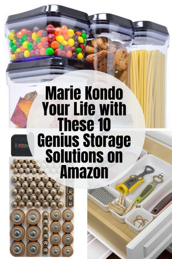 Marie Kondo Your Life with These 10 Genius Storage Solutions on Amazon #storagesolutions