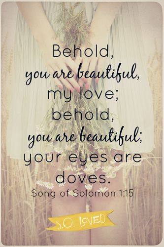 You Are Beautiful Gods Girl Flaws And All Solomon Bible