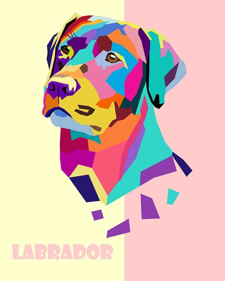 Labrador Portrait By Jim Bryson In 2019 Dog Pop Art Pop