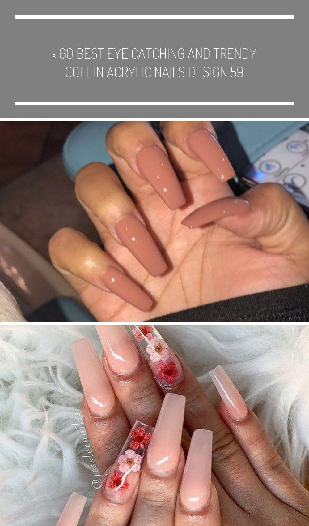 60 Best Eye Catching And Trendy Coffin Acrylic Nails Design 58 Long Nails 60 Best Eye Catching And Trendy Acrylic Nail Designs Acrylic Nails Coffin Nails