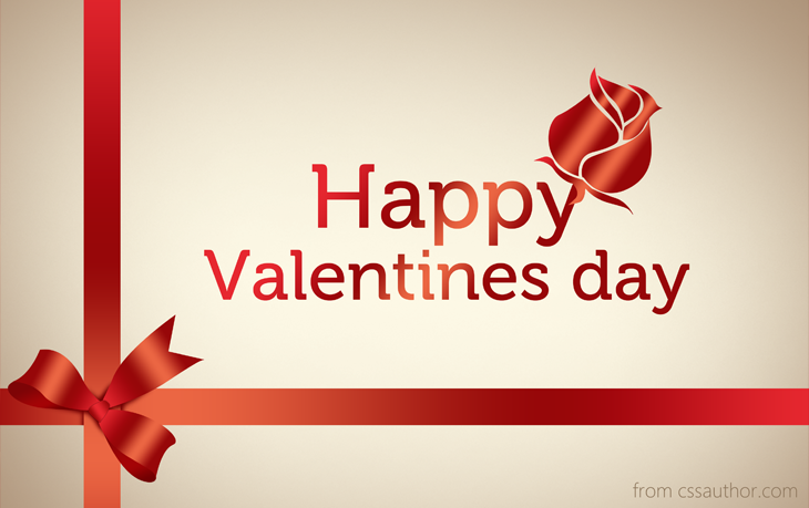 Download Free High Quality Happy Valentines Day Greeting Card PSD – Valentines Card Image