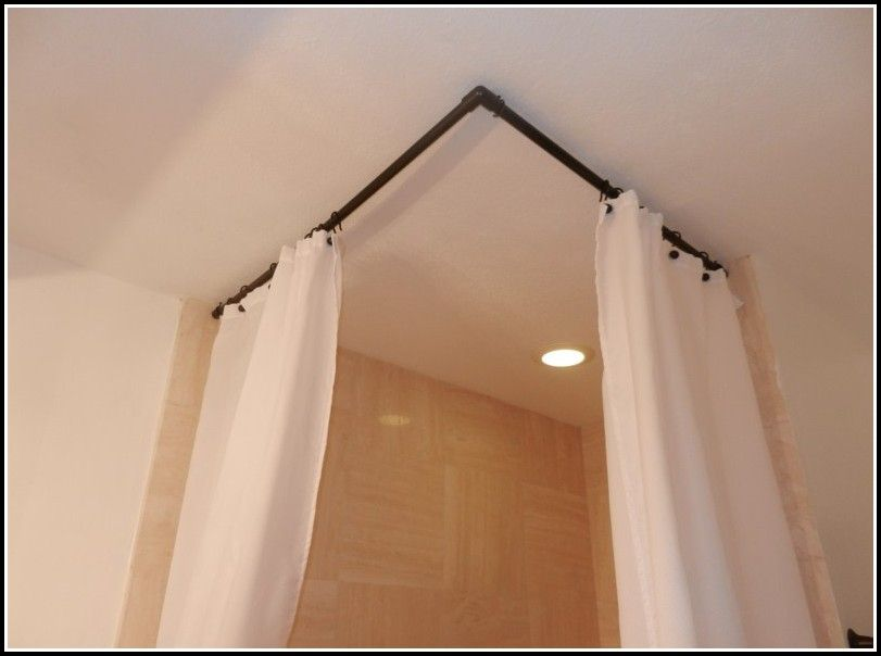 Shower Curtain Rods That Hang From Ceiling Diy Curtain Rods