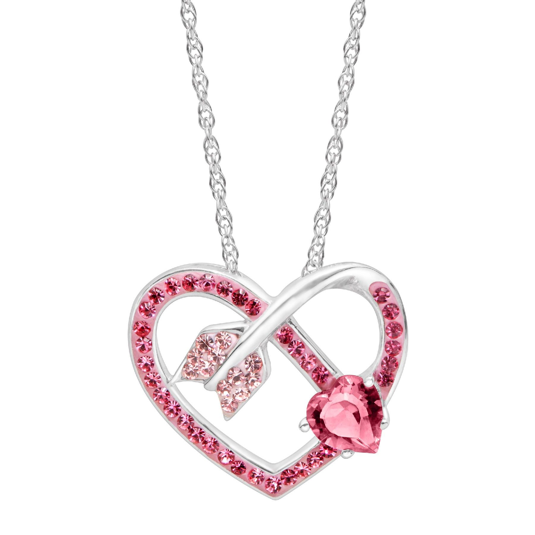 0fb6c4cff Arrow Heart Pendant With Pink & Rose Swarovski Crystals.25% OFF Heart  Collection - Limited Time Only! Shop Now and get your order before  Valentine's Day!