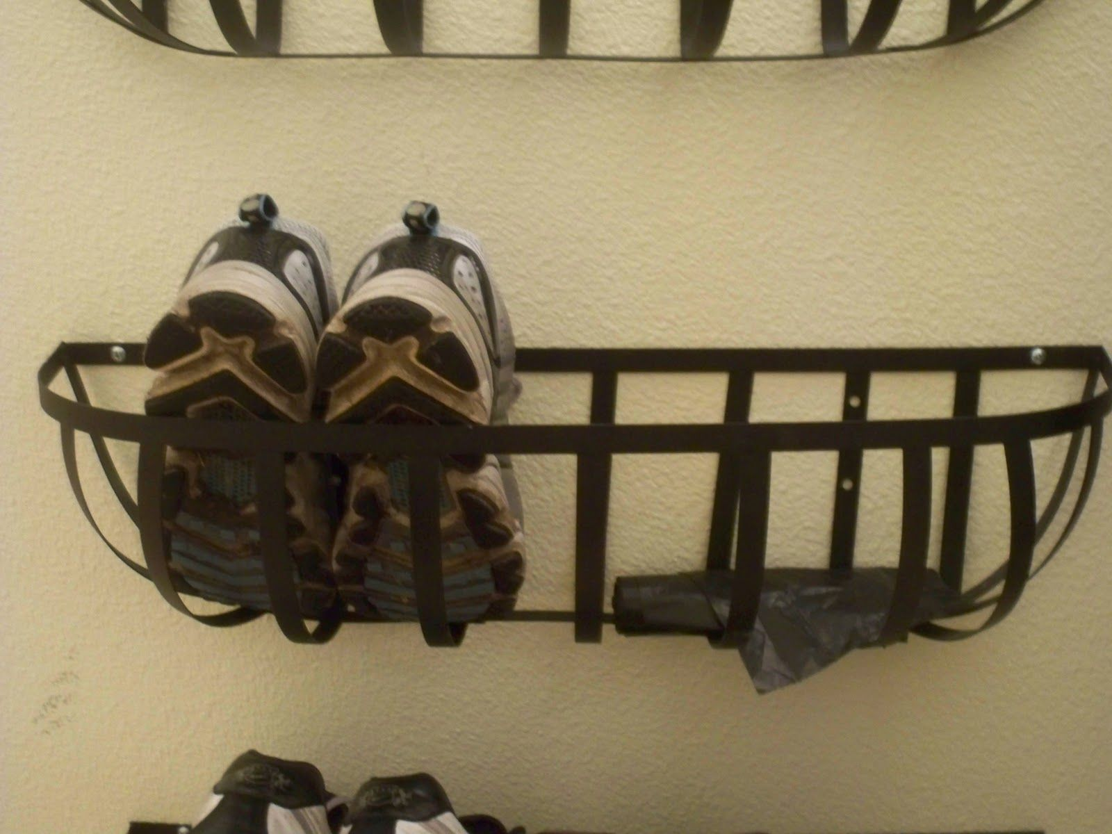 Wall Hanging Shoe Rack wall mounted shoe rack |  inspired: mudroom under $100 - part 1