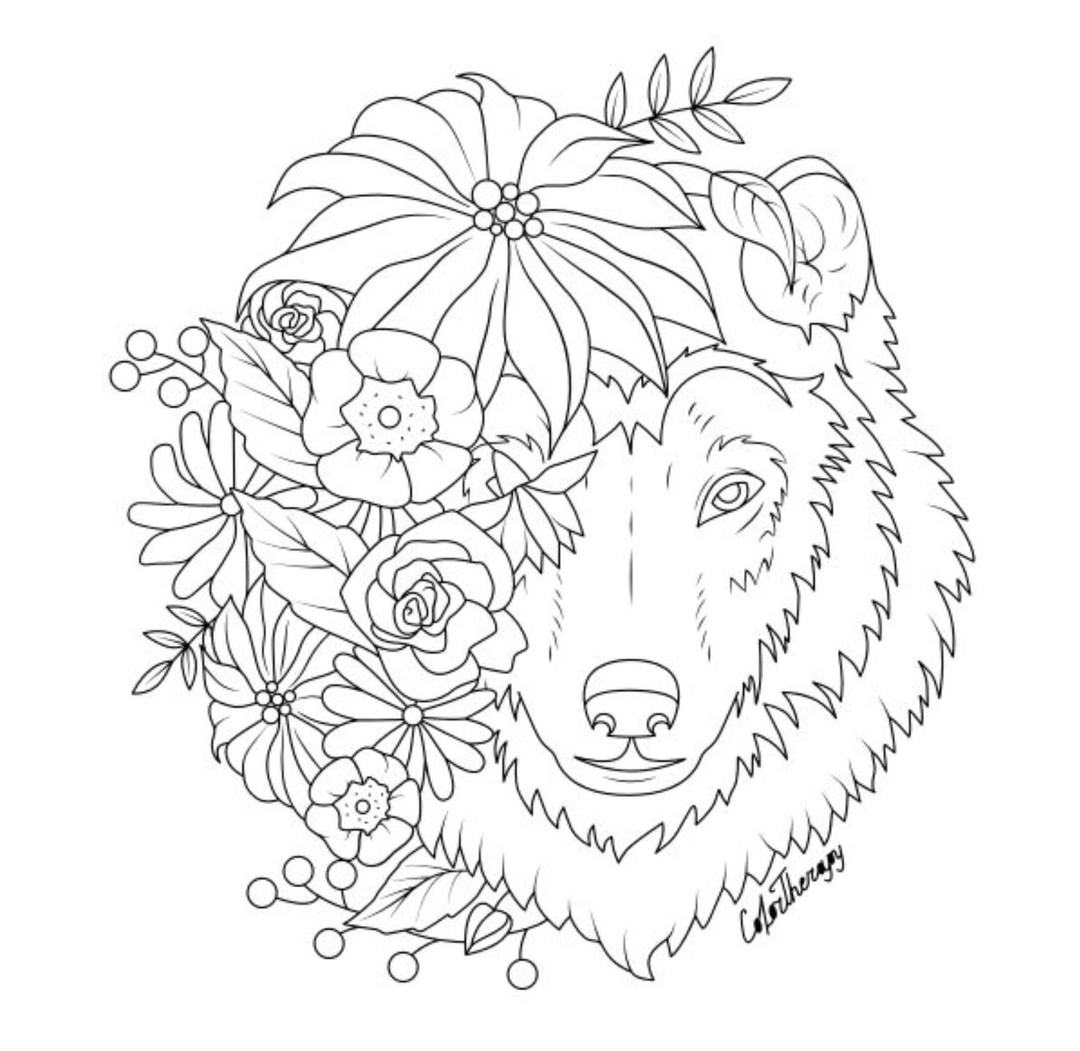 The Sneakpeek For The Next Gift Of The Day Tomorrow Do You Like This One Wolf With Flowers Horse Coloring Pages Fairy Coloring Pages Coloring Book Art