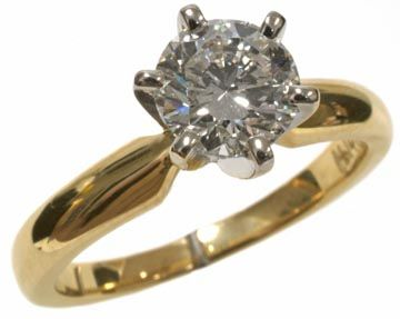perfection   #Diamond #solitaire #engagement #ring #1.00ct round diamond set in 14k yellow gold   www.Hannoush.com