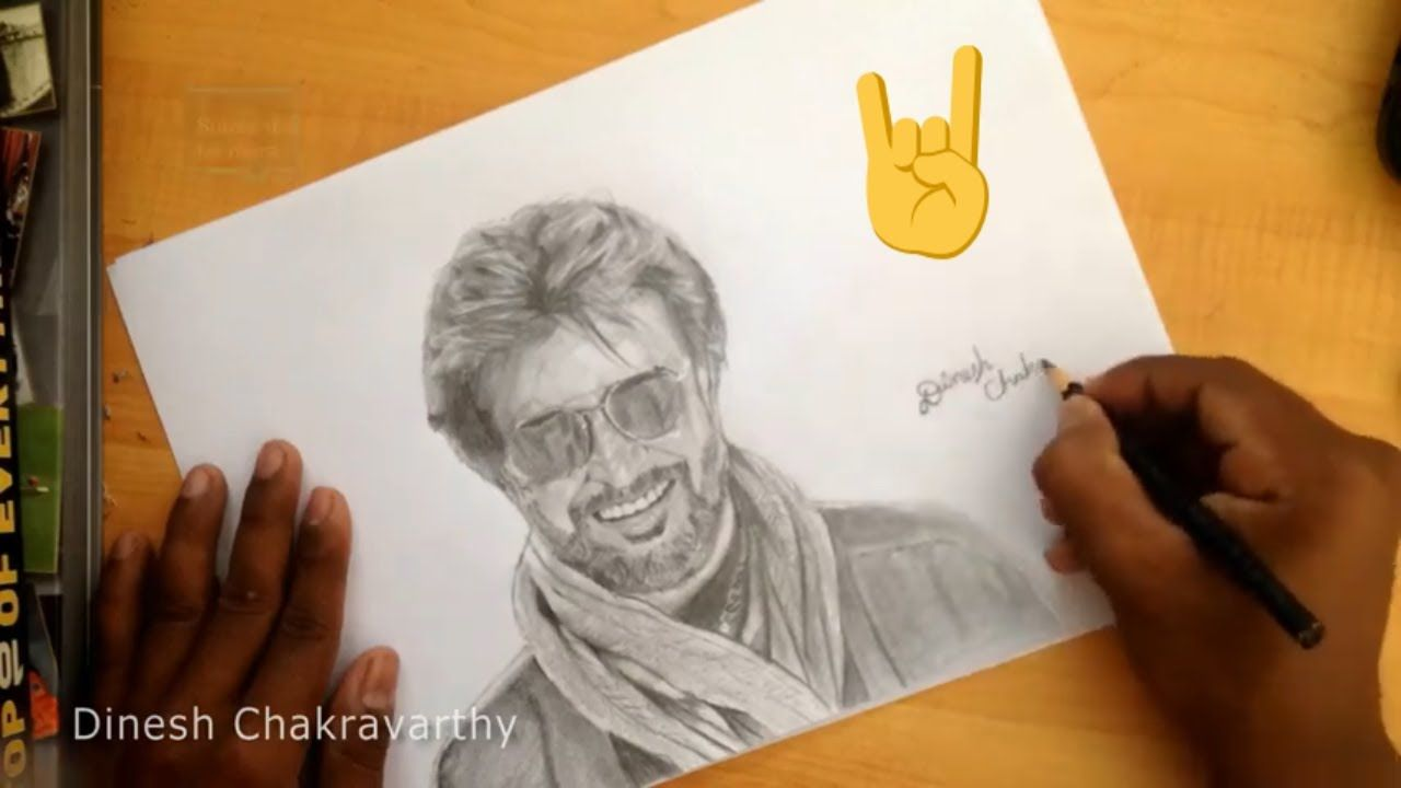 superstar rajinikanth drawing | Drawings, Drawing artwork ...