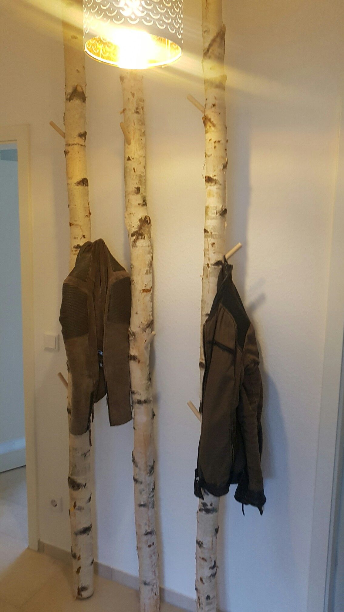 Garderobe birkenstamm homemade   Garderobe modern ...
