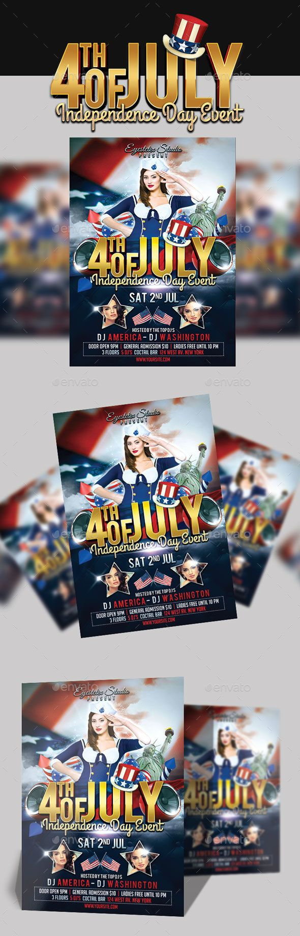 Th July Independence Day Event  Flyer Template Event Flyer