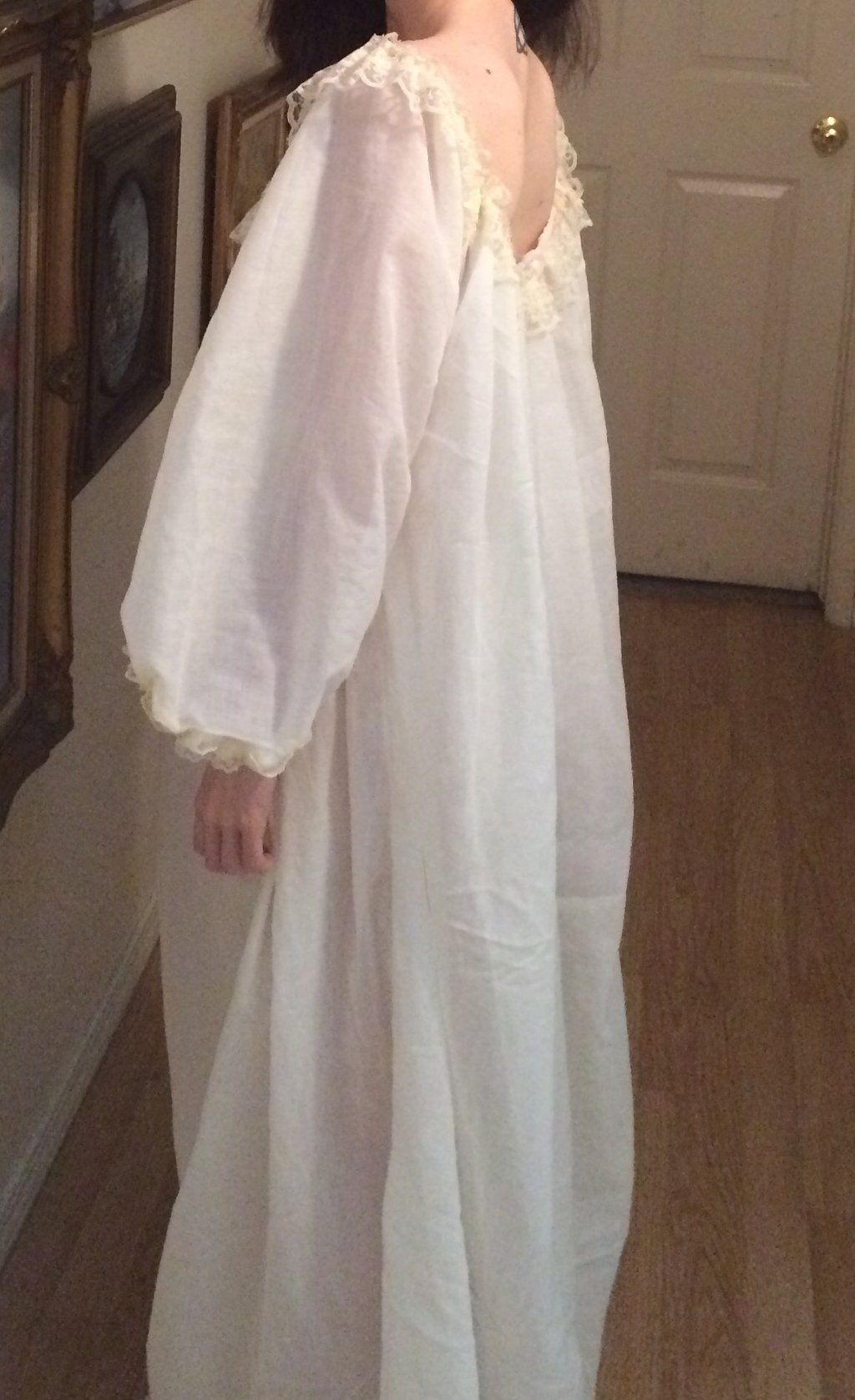 Late 18th Century chemise nightgown  a1d8fc5e3f82