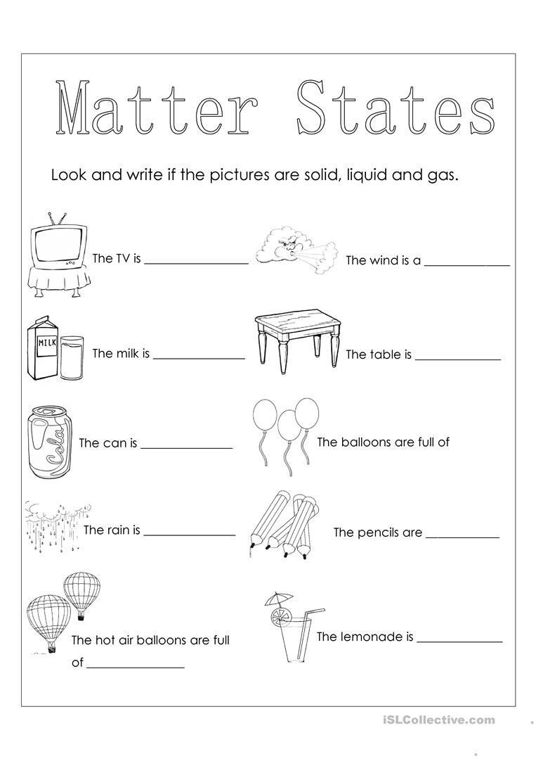 hight resolution of State Of Matter Worksheet Answers Matter States English Esl Worksheets for  Distance Learning   States of matter worksheet