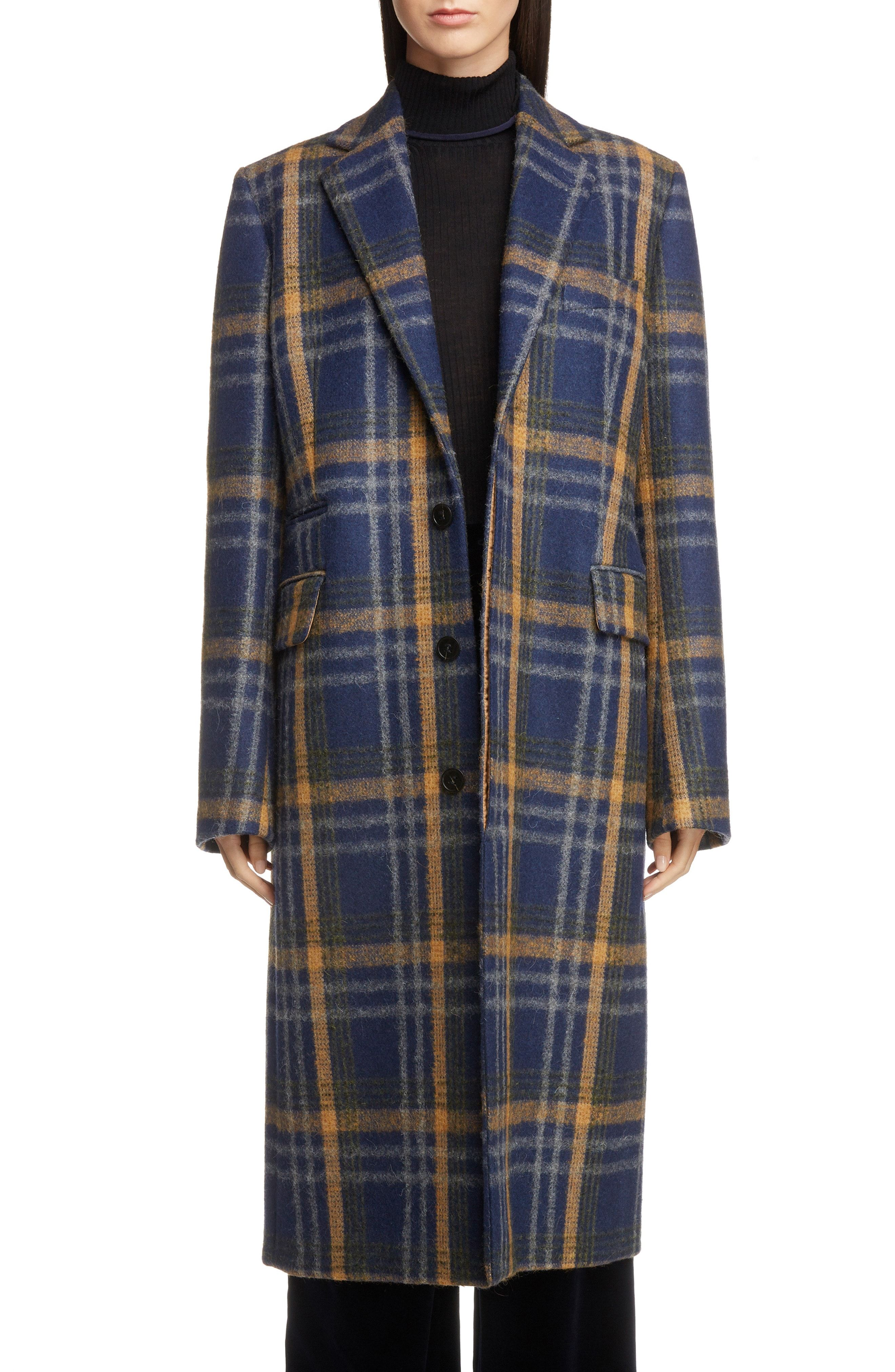 8949c05d73 Acne Studios Check Wool Blend Coat available at  Nordstrom