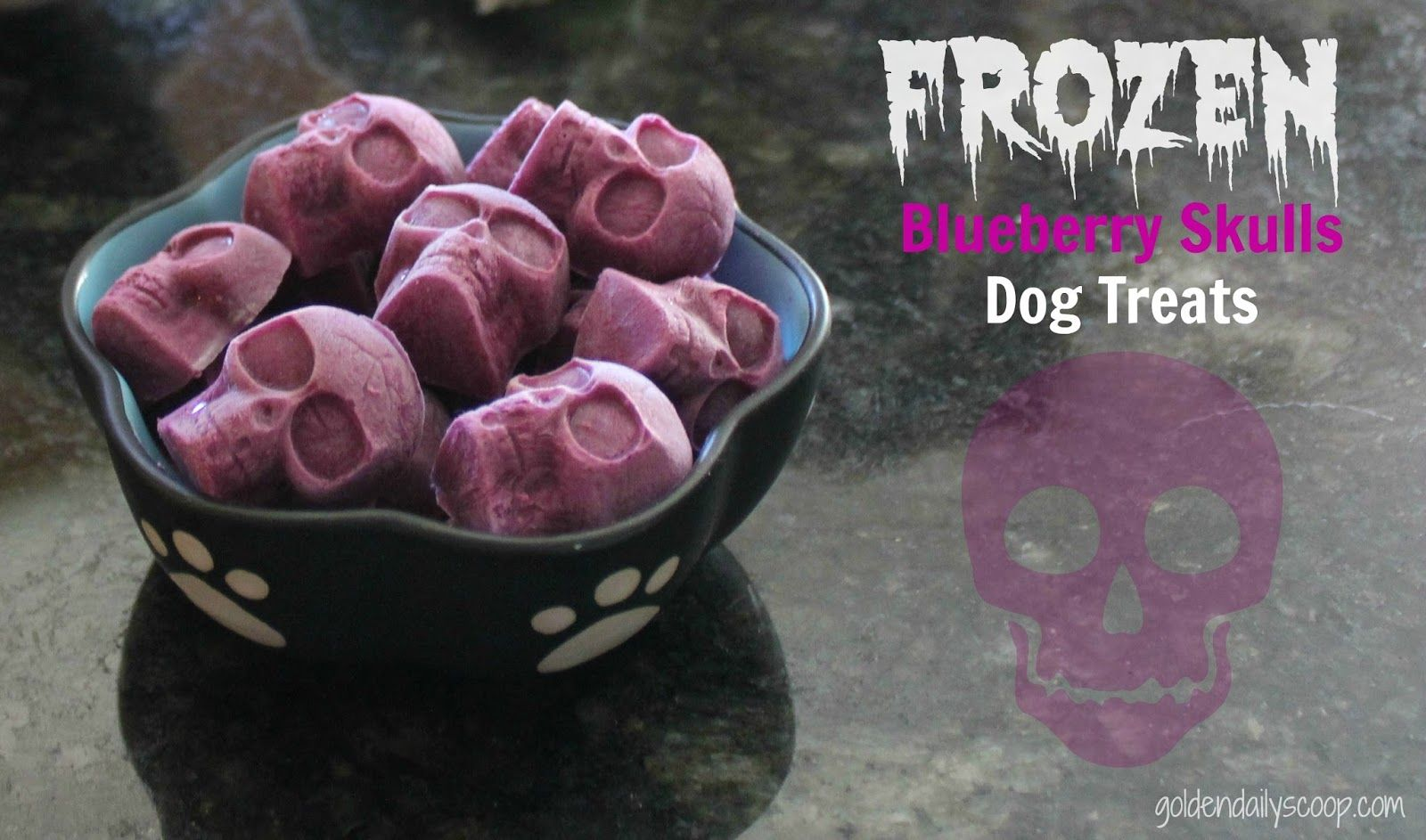Frozen Blueberry Skull Dog Treats for Halloween | Homemade Dog ...