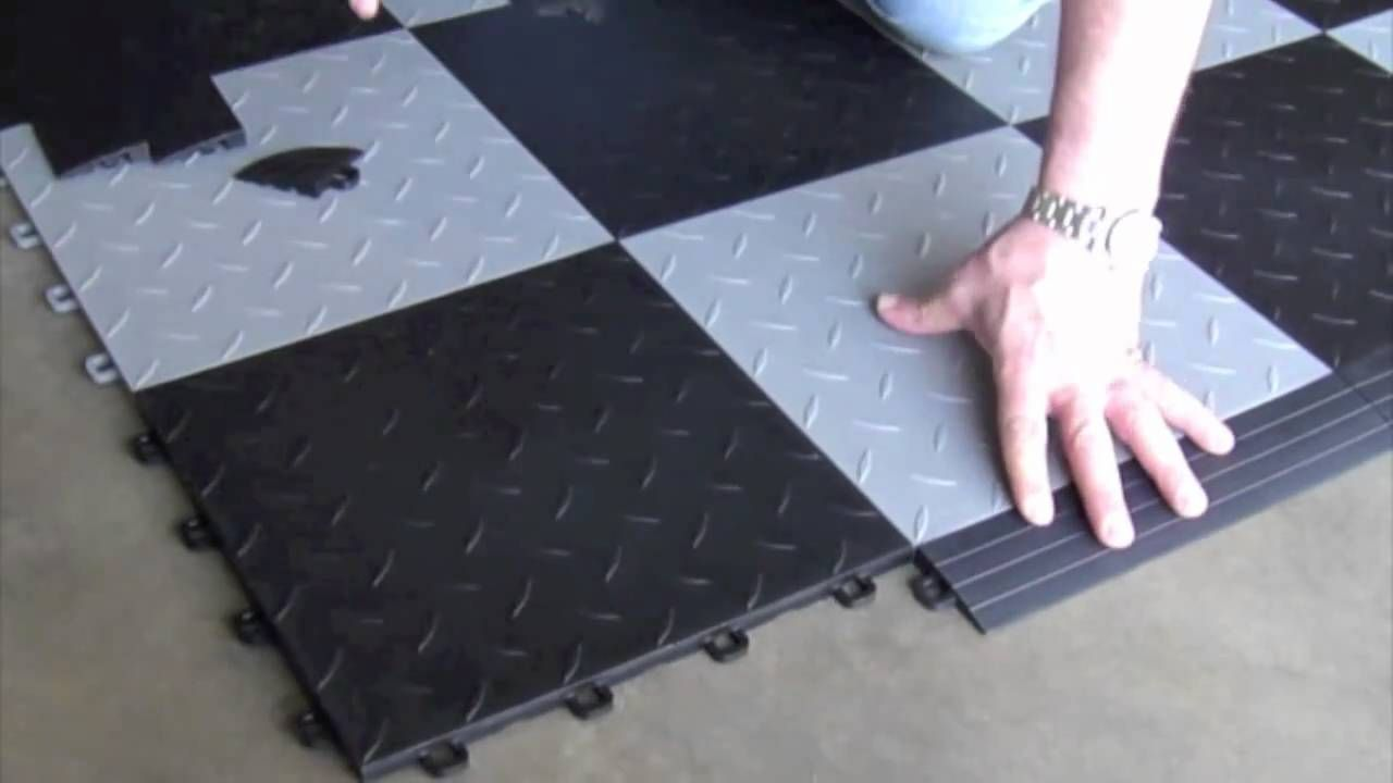 Top 25 ideas about garage floor tiles on Pinterest | Stained concrete,  Basement laundry rooms and Floors