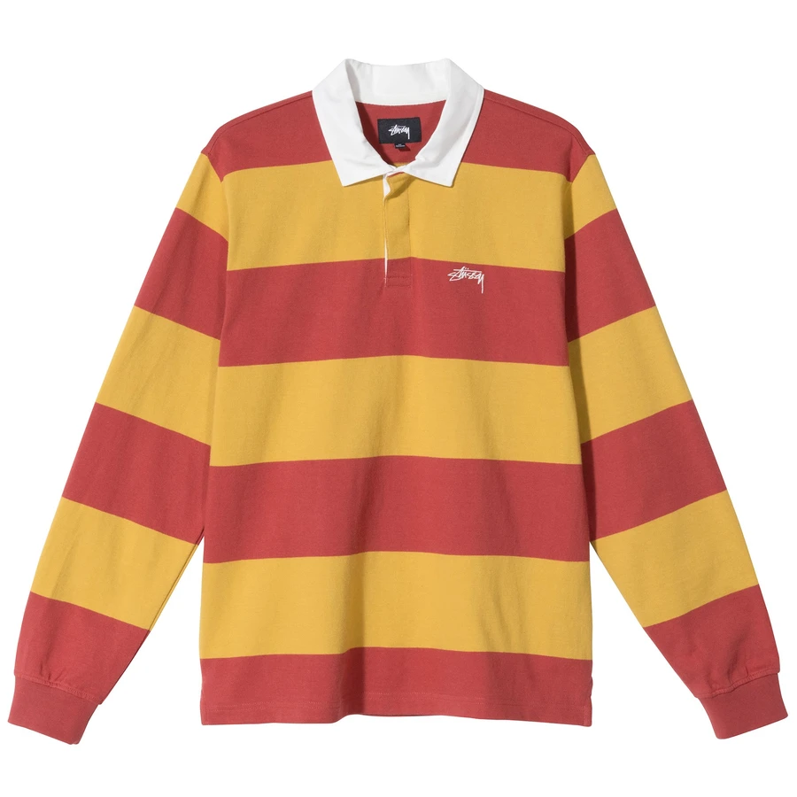 Classic Stripe Rugby Black S In 2020 Long Sleeve Shirt Men Classic Stripe Long Sleeve Shirts