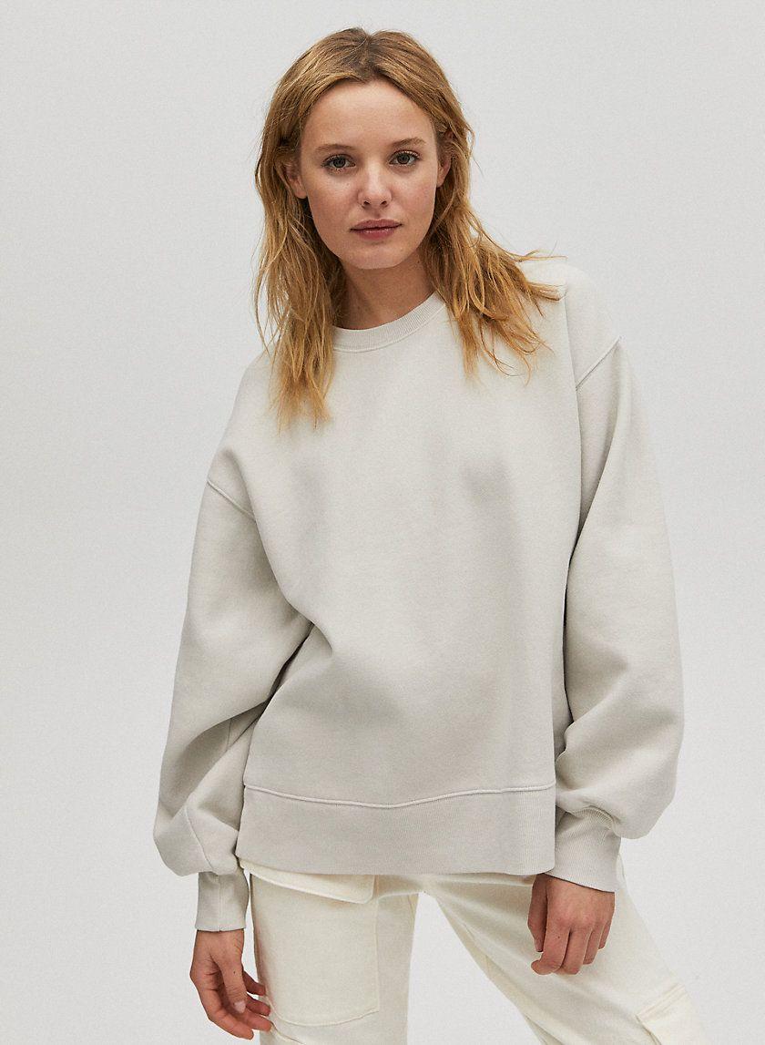 Cozy Fleece Boyfriend Crew Sweatshirt Sweatshirts Oversized Crewneck Crew Neck Sweatshirt [ 1147 x 840 Pixel ]