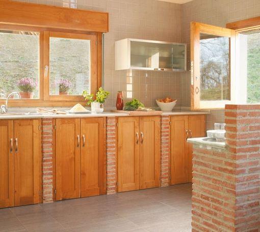 Fabricar una cocina de obra txoko pinterest ideas - Como pintar una casa rustica ...