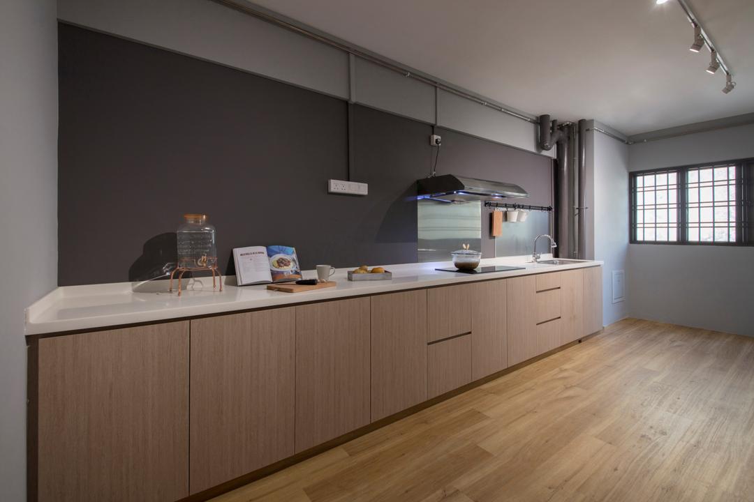 kitchen color Interior design singapore, Kitchen