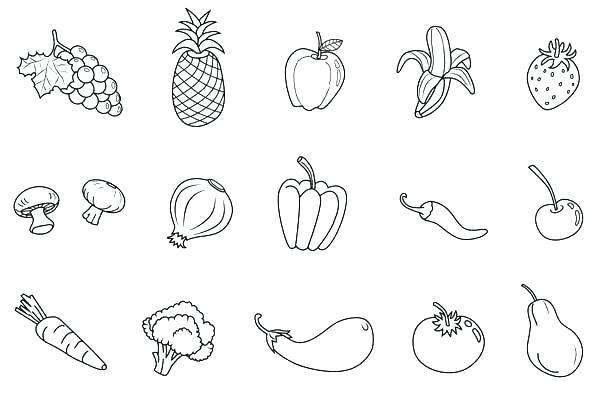 Coloring Pages Fruits Luxury Page Free Printable Vegetables For Kindergarten F Of To Colour In N Vegetable Coloring Pages Fruit Coloring Pages Coloring Pages