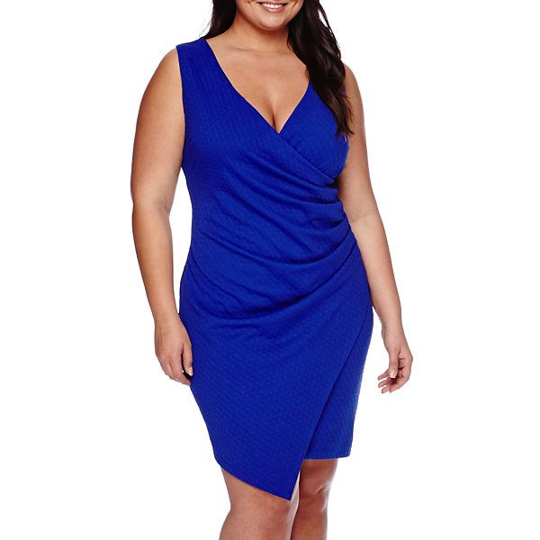 Bisou Bisou® Sleeveless Asymmetrical Sheath Dress - Plus ...