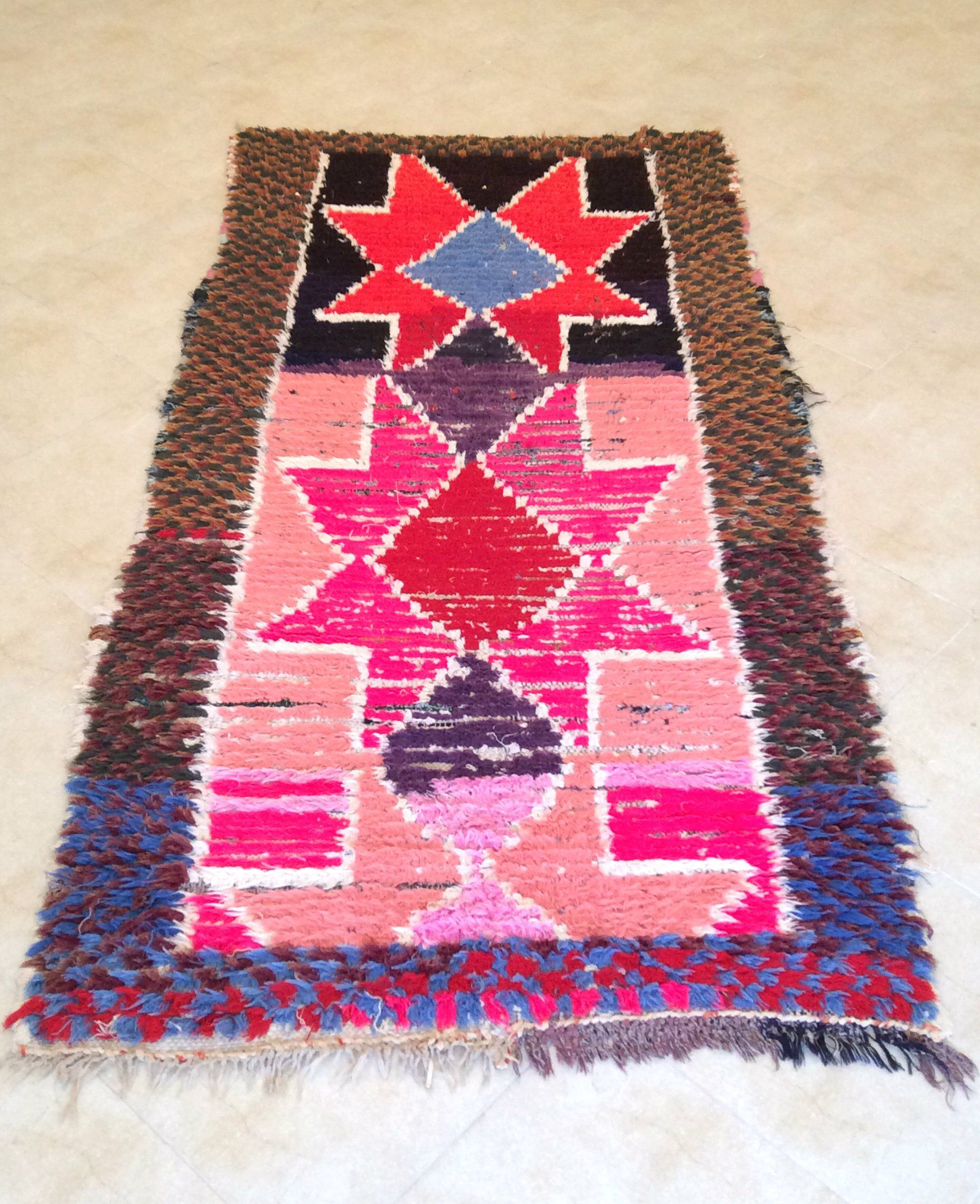 Boucherouite Tapis Berber Boucherouite Rug From The Moroccan Atlas Mountains Will