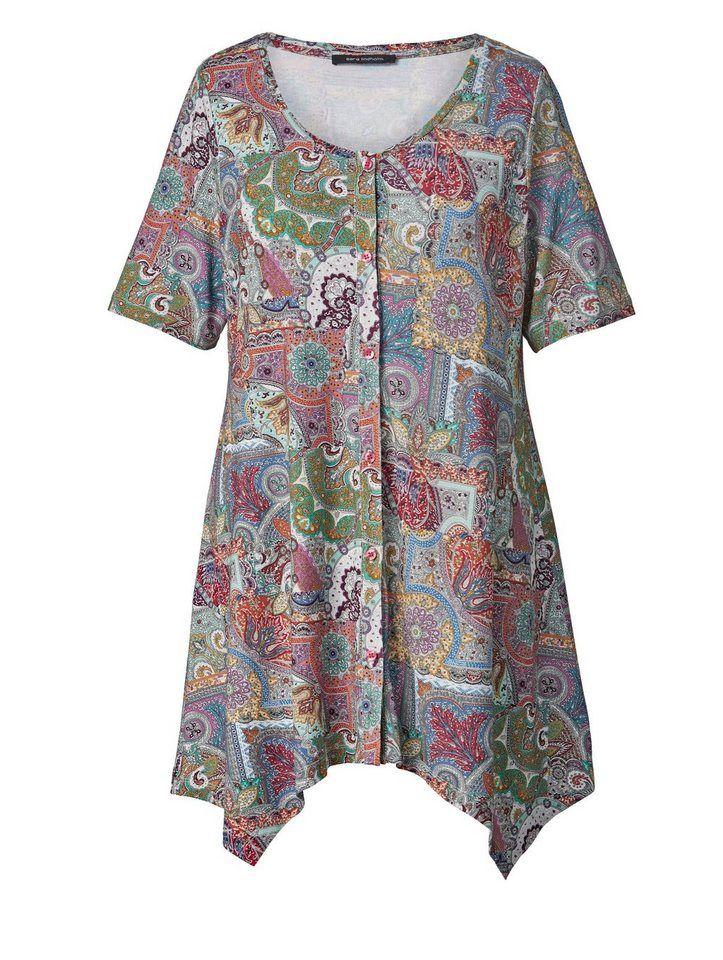 dd88cc42ddc0ab Sara Lindholm by Happy Size Jersey-Jacke mit Zipfelsaum für 49,99€. A-Shape  mit längerem Halbarm – vielseitig kombinierbar bei OTTO