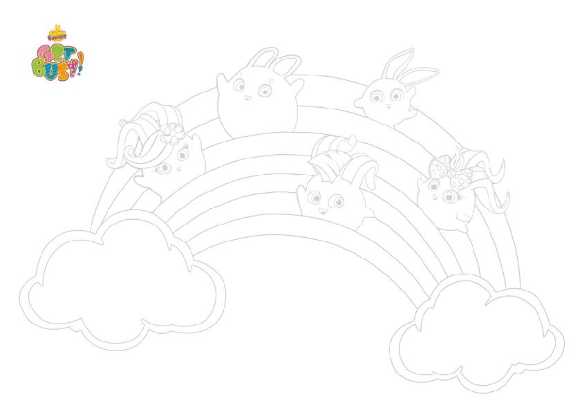 Sunny Bunnies Coloring Poster Bunny Coloring Pages Coloring Pages Color