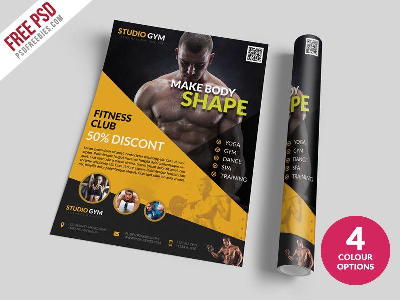 Diseño de Lona, Posters y Anuncio para Impresos Restaurante - fitness brochure