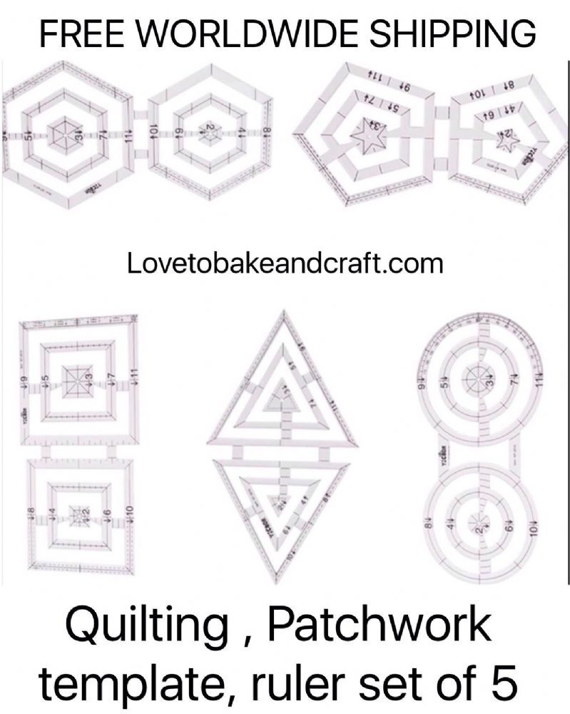 Rulers, Quilting ruler Patchwork ruler Quilting template Patchwork ... : quilting template - Adamdwight.com