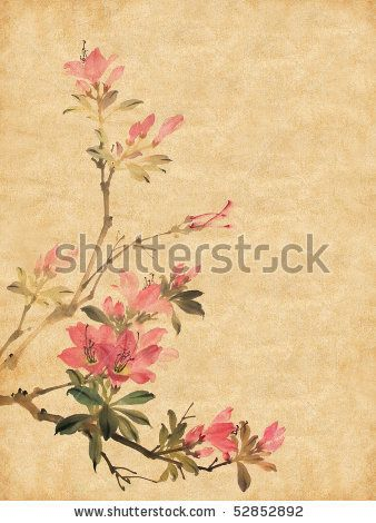 Stock Images Similar To Id 105742865 Chinese Background Chinese Background Chinese Painting Azalea Flower