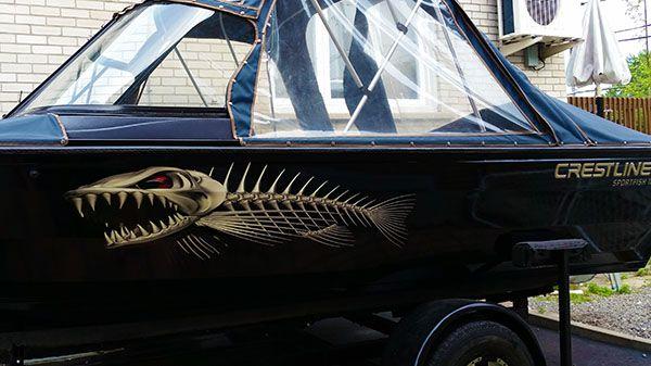Custom Sized Light Bone Fish Graphics Boat Graphics Www - Vinyl boat graphics decalsboat graphics hull graphics boat stickers stickers wraps boat