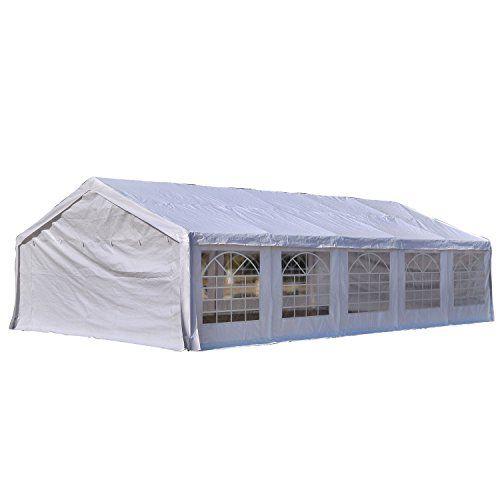 Amazon Com Exacme White 32x16 Heavy Duty Carport Car Shelter Tent Wedding Party Tent Canopy Storage Sheds Patio Lawn Gard Canopy Tent Party Tent Tent