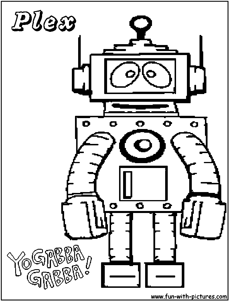 Yogabbagabba Plex Coloring Page Coloring Pages Easy Drawings For Kids Free Coloring Pages