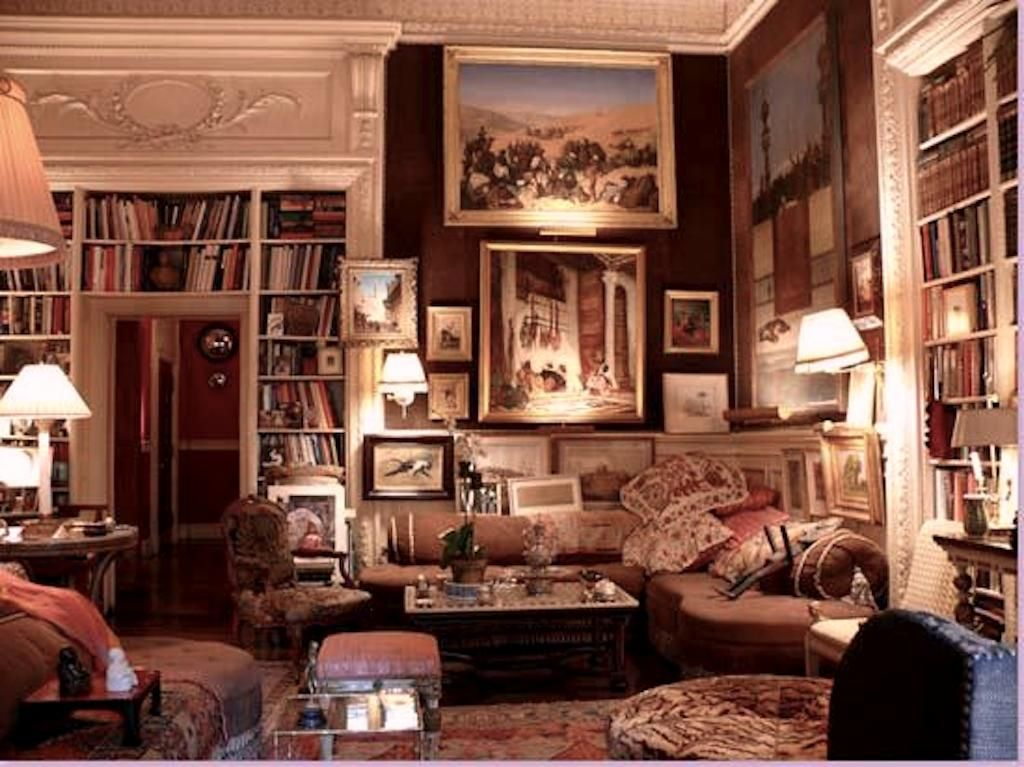 Sitting Room | Cozy home library, Home library design ...