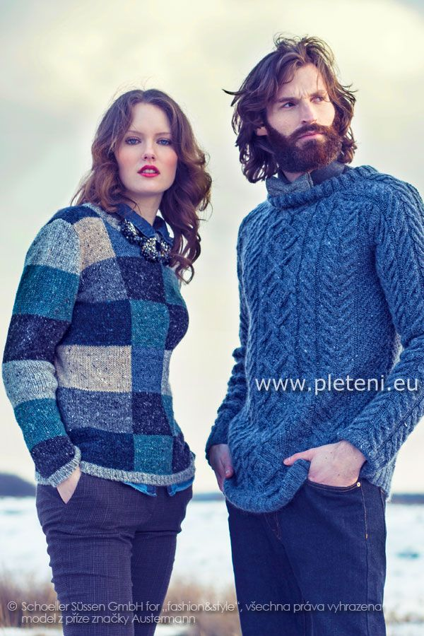42f61d3f4369 dámský a pánský ručně pletený svetr z příze Irish Tweed