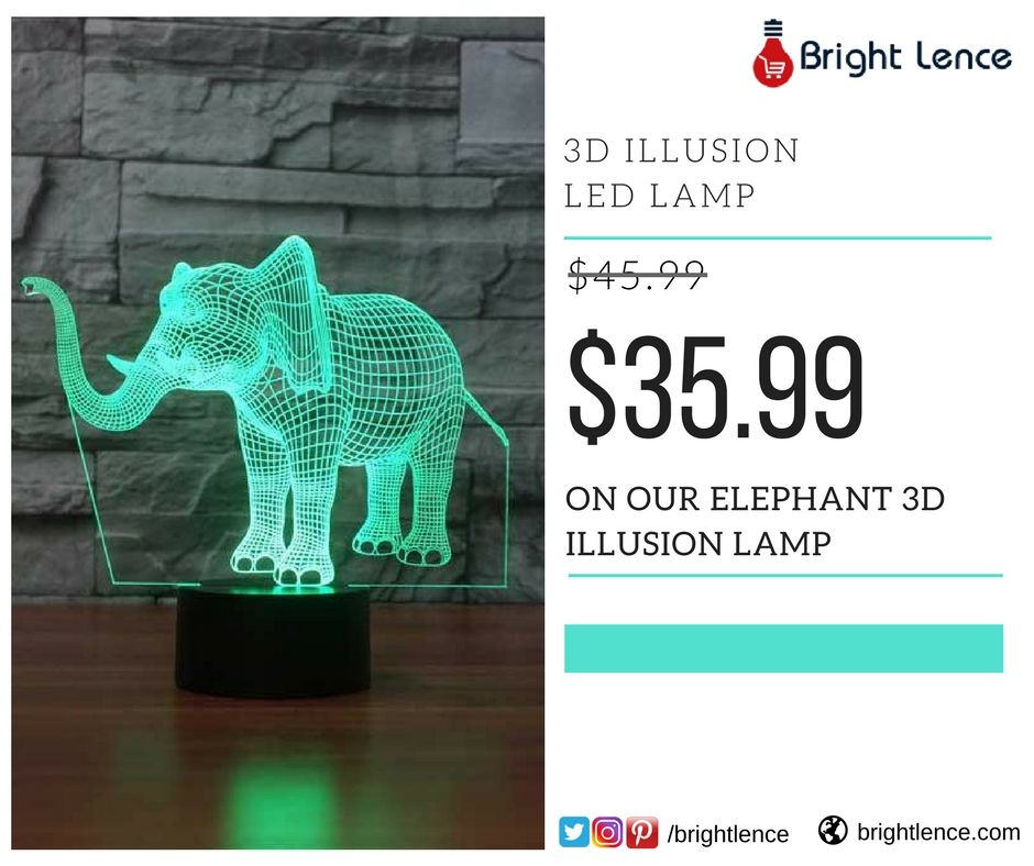 Elephant 3d Illusion Lamp Elephant Lamp Illusions Elephant