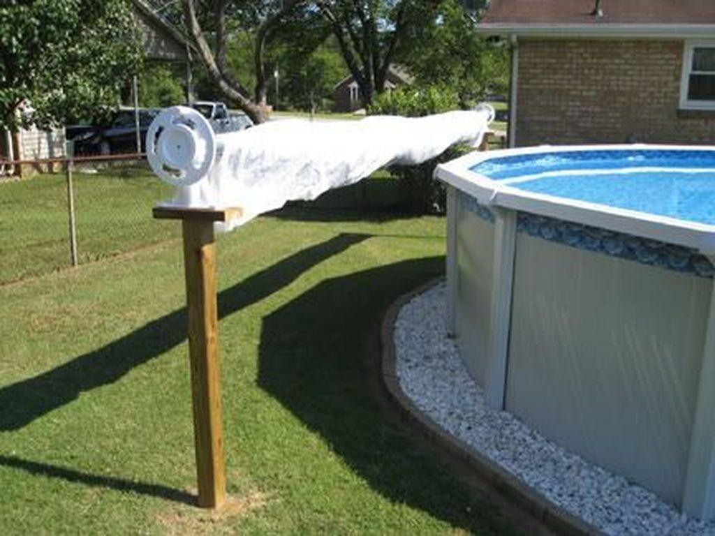 diy pool cover reel pvc