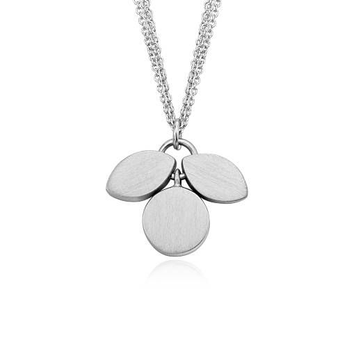 Bree Richey Petal Drop Pendant in Satin Sterling Silver