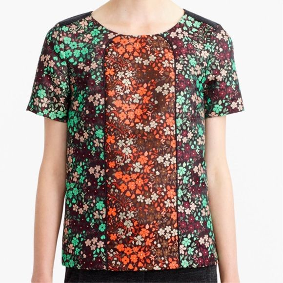 """NWT J. Crew Collection Pop Floral top blouse This stunning floral blouse has all the quality you expect from J. Crew Collection! Jacquard flowers throughout in two different colorways. New with tags. """"The perfect fall bouquet in top form. We went all the way to France to find this colorful jacquard and mixed it with a little wool flannel at the back for a touch of texture. Fully lined.  24.5"""" long."""" J. Crew Tops Blouses"""