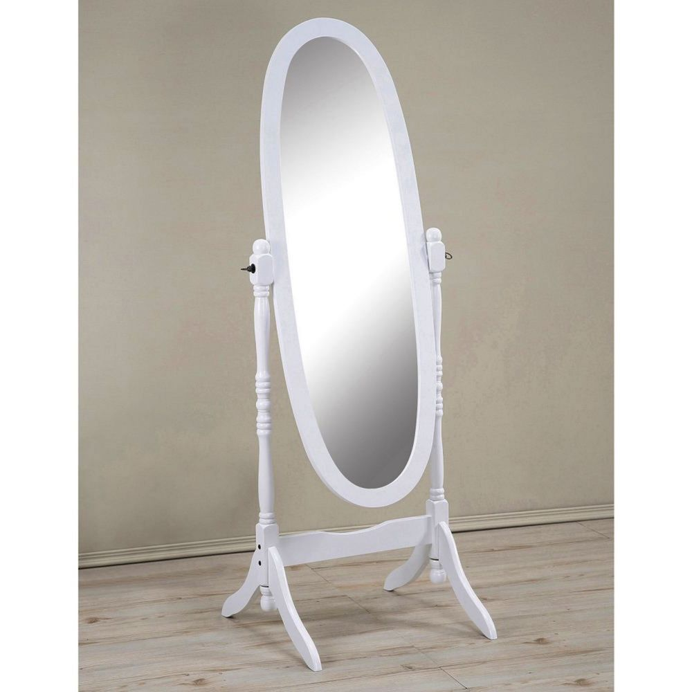 Details About Cheval Floor Mirror Wood Full Length Oval Shape Free