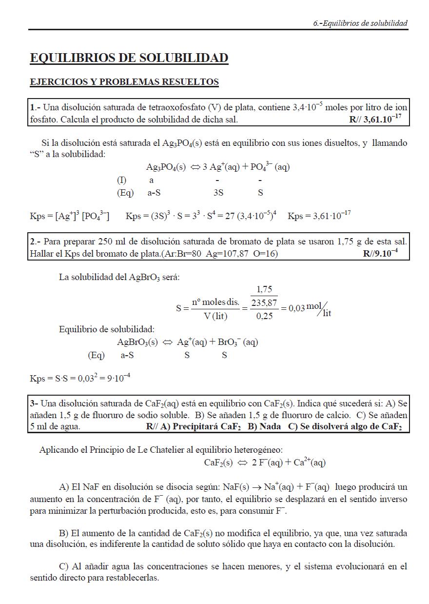 Problemas Repaso Tema Solubilidad Quimica Fisica