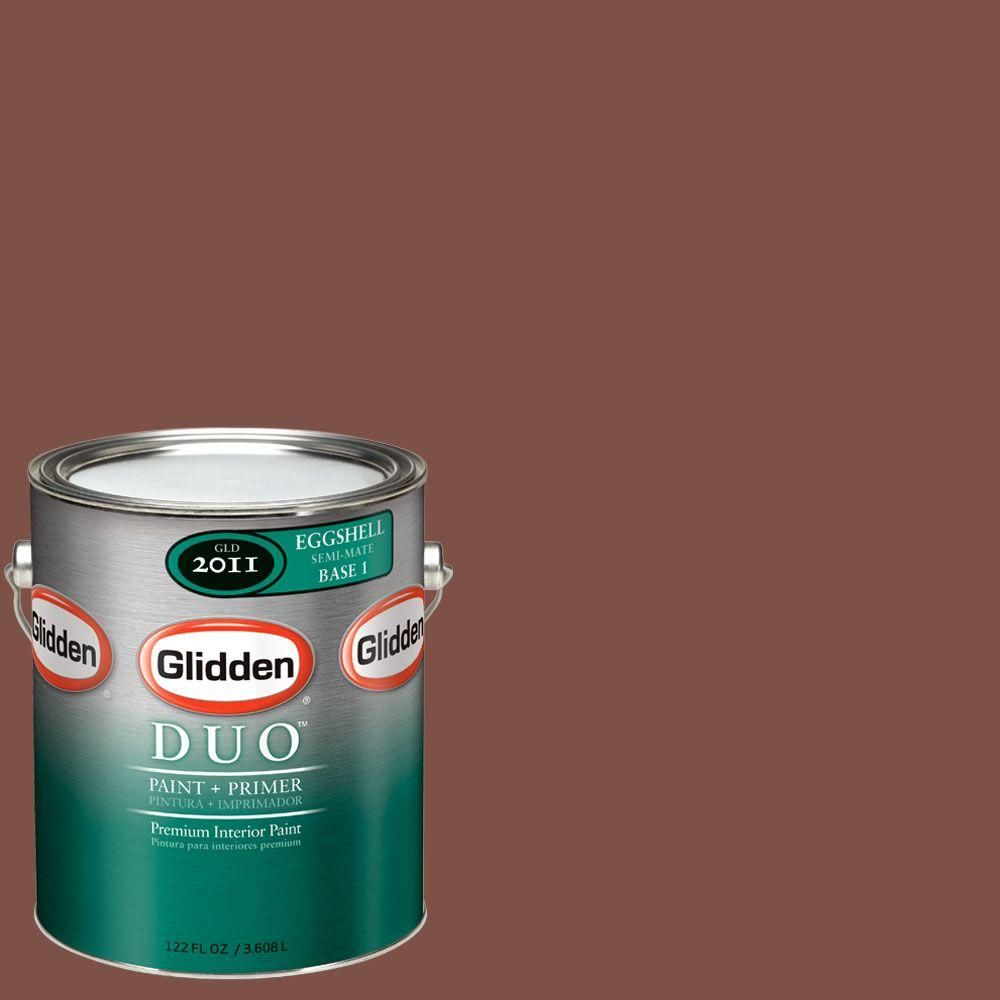 Glidden duo gal glo sweet tea eggshell interior paint with